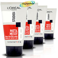 4x L'Oreal Loreal Studio Matt  Messy Shine Free Fibre Paste STR8 150ml