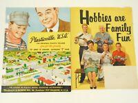 Lot of 2 Plasticville Train Model 1959 & Hobby Catalog 1960 Color Ephemera Paper