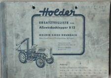Holder Allzweckschlepper B 12 Ersatzteilliste