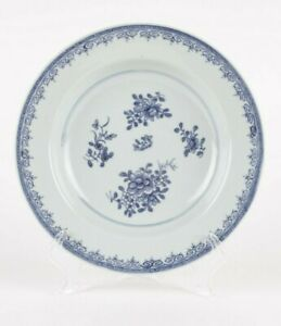 Antique Chinese plate, 18th century, blue and white