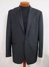 YVES SAINT LAURENT Black Virgin Wool TUXEDO Formal Blazer Jacket 54 US-44 Short