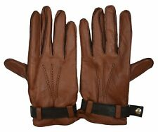 Brooks Brothers Men's Genuine Leather Cashmere Lined Gloves, Brown, Sz M, 8153-6