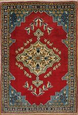 "Hand Knotted Oriental Rug Wool Red Blue Carpet 2'3"" x 3'5"""