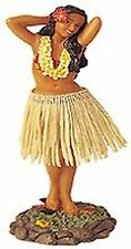 Dashboard Dancer Hula Doll Hawaiian Girl Posing Skirt Bobble Aloha Tan Car Auto