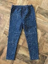 Gro Company Jersey Leggings Navy with White Polka Dots Unisex Size 104/110cm