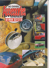 MG OWNERS' ACCESSORIES DEPT brochure 1995 with price list, near mint, SCARCE