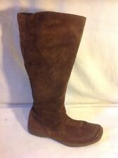 Roberto Vianni Brown Knee High Suede Boots Size 38