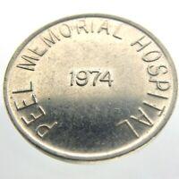 1974 Peel Memorial Hospital PMH Circulated Token Brampton Ontario Canada P396