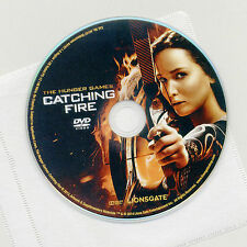 Hunger Games: Catching Fire 2013 PG-13 movie DVD disc & sleeve Jennifer Lawrence