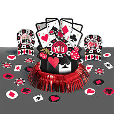 Place Your Bets Card Suit Casino Birthday Party Table Centerpiece Decoration Kit