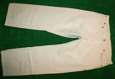 Men's American Living Slim Straight Distressed White Jeans 100% Cotton 36 x 30