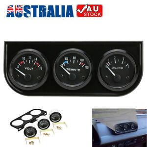 52mm Oil Pressure Water Temperature Gauge Voltmeter Car Auto Motorcycle Meter