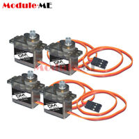 4PCS MG90S Micro Gear 9g Servo for RC Plane Helicopter Boat Car UK