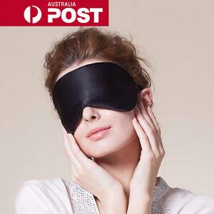100% Pure Silk Sleeping Sleep Soft Eye Mask Blindfold Lights Out Travel Relax