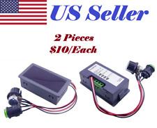 2x DC 6V-30V 12V 24V Max 8A Motor PWM Speed Controller W/ Digital Display Switch