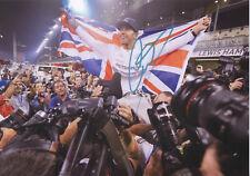 LEWIS HAMILTON Signed 12x8 Photo FORMULA 1 World Champion COA