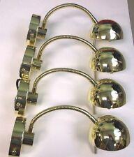 Lot of 4 BBT Brand 12 volt Brass LED Reading Lights for RVs