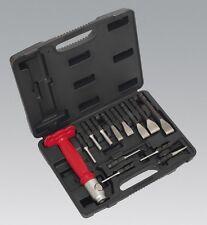 Sealey AK9215 Interchangeable Punch & Chisel Set 13Pc Workshop Bodyshop Tool