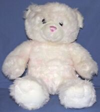 "Build a Bear Teddy Bear White Pink Soft Plush Giggles 16"" Clean Needs a Home"
