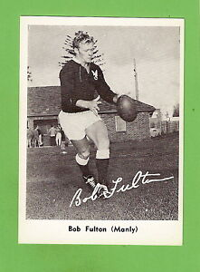 #D228. 1967 MIRROR NEWSPAPER RUGBY LEAGUE CARD - BOB FULTON, MANLY