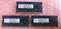 3 x Nanya NT2GC64B88B0NS-CG 2GB PC3-10600 DDR3-1333MHz 204-Pin Laptop Memory