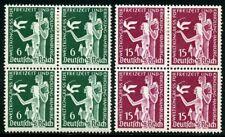 GERMANY DEUTSCHES REICH SCOTT#477/78  BLOCKS  2 STAMPS NH & 2 HINGED  MINT SHOWN