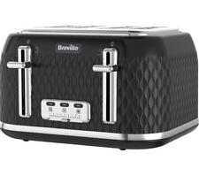 Breville VTT786 Curve 4 Slice Four Slot Toaster Black