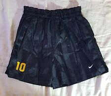 Vintage Rare  Nike Two Tone Black Stripe Nylon #10 Soccer Shorts Size Medium