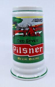 Pilsner Ceramic White Heritage Old Style Beer Stein Mug Cup Rabbit Logo Vintage