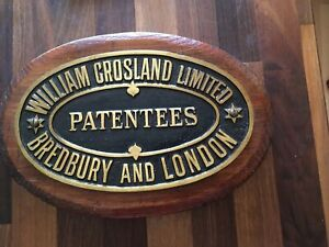 Vintage Original Machine Plate William Crosland Bredbury & London