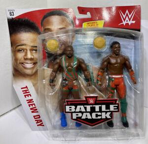 WWE Battle Pack Big E Xavier Woods New Day Action Figures Series 63 Mattel 2019
