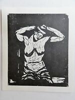 Georg Tappert (1880-1957) Kunstdruck vom Linolschnitt von 1911: HALB-AKT