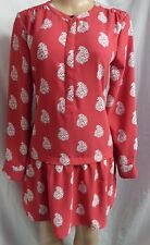"""ANN TAYLOR LOFT"" CRIMSON RED GEO CASUAL DROP WAIST BOHO MINI DRESS SIZE: S NWT"