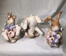 New ListingFitz and Floyd Halcyon Bunny Tumblers set of 3