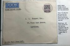 1936 Accra Gold Coast First Flight Airmail Cover FFC To Cambridge England