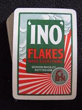 """VINTAGE 1930's ADVERTISING PACK DECK OF PLAYING CARDS - """"INO"""" FLAKES SOAP"""