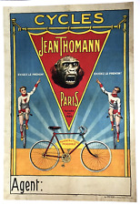 Cycles Jean Thomann - Original Vintage Bicycle Poster - Cycling