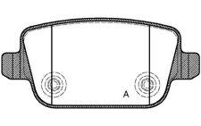 4x OPEN PARTS Pastillas de Freno Traseras Para FORD S-MAX KUGA BPA1256.00