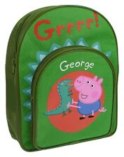 OFFICIAL PEPPA PIG GEORGE DINOSAUR GRRR GREEN BACKPACK RUCKSACK SCHOOL BAG NEW
