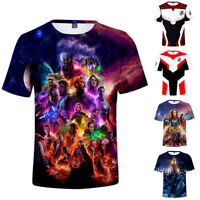 Avengers: Endgame Superhero Men T Shirt Summer Casual Tee Polyester Cosplay
