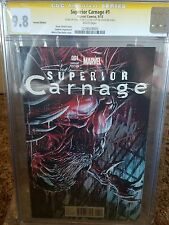 Superior Carnage #1 CGC 9.8 Variant Edition Signed by Stan Lee and Clayton Crain