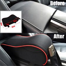 Car Seat Armrest Cushion Memory Foam Center Console Lid Cover & Cellphone Pocket
