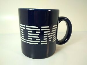 Vintage Classic Blue IBM Computer Coffee Mug Tea Cup