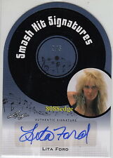 "2011 POP CENTURY SMASH HIT AUTO: LITA FORD #2/5 DIE-CUT AUTOGRAPH ""THE RUNAWAYS"""