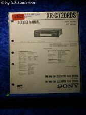 Sony Service Manual XR C720RDS Cassette Car Stereo (#3542)