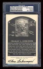 CHARLIE GEHRINGER SIGNED ARTVUE WHITE HOF PLAQUE MINT PSA/DNA SLABBED AUTO