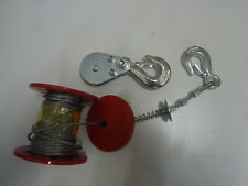 Stahlseil 3mm 12m Verwindungsfrei mit Umlenkrolle und Haken