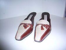 Etienne Aigner Patrician leather & textile womens shoes Size 8 1/2 M