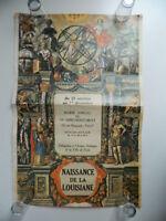 affiche expositions Naissance De La Louisiane Mairie Paris VIe 1982