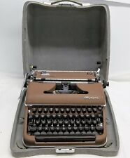 Vintage 1956 Olympia Typewriter SM3 De Luxe Brown Color & Silver/Grey Case Works
